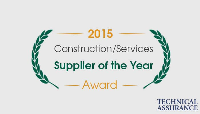 Supplier of the Year Award Construction Services